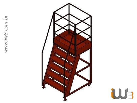 Escada Metalica Movel