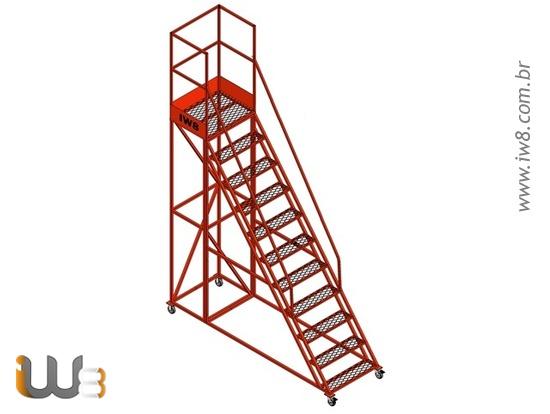Escada Móvel Segura 10 Degraus