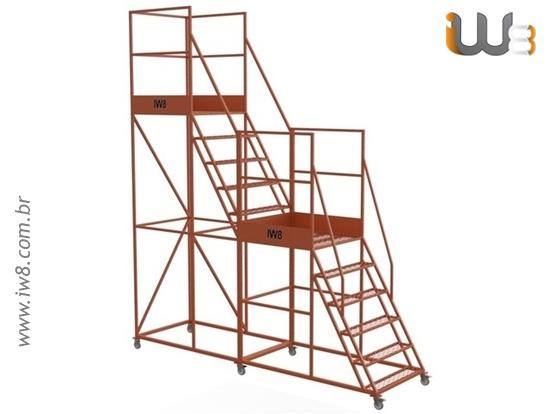 Escada Móvel Segura Almoxarifado