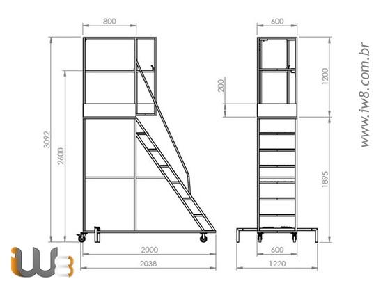 Escada Móvel Segura Trabalho em Altura
