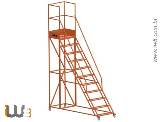 Escada Plataforma 10 Degraus