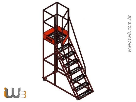 Escada Plataforma 1,9m Almoxarifado