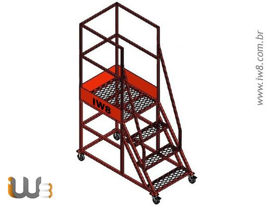 Escada Plataforma 3 Degraus