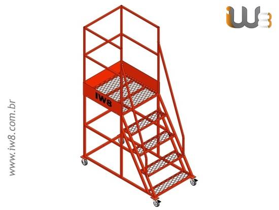 Foto do produto - Escada Plataforma 4 Degrau Altura 1,3m
