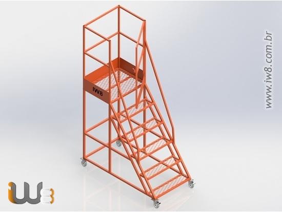 Escada Plataforma 5 Degraus