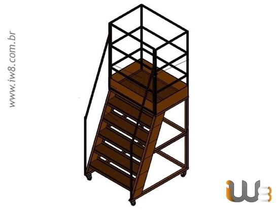 Escada Plataforma de Almoxarifado