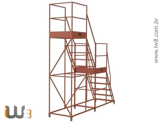 Escada Plataforma Dupla
