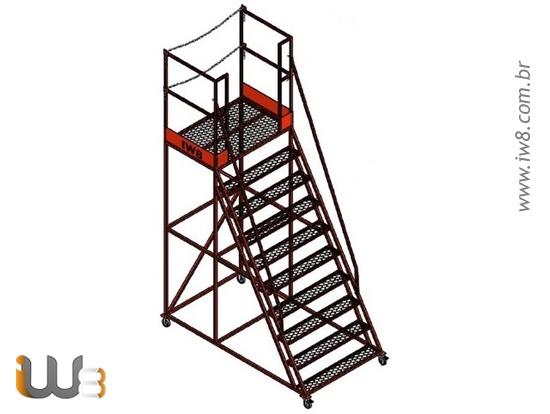 Escada Plataforma Industrial 2,5m