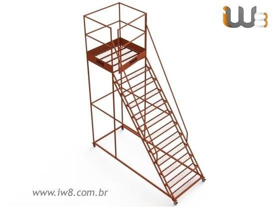 Escada Plataforma Industrial 3 metros