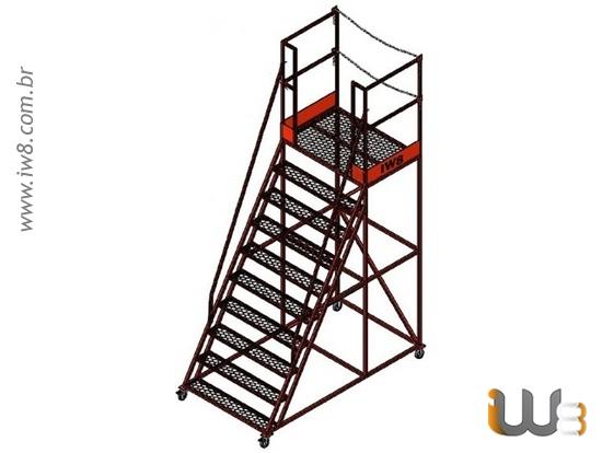 Escada Plataforma Industrial de Ferro