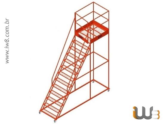 Escada Plataforma Industrial Móvel