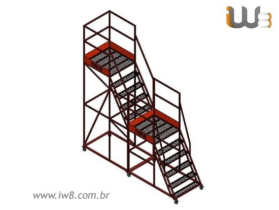 Escada Plataforma Móvel Almoxarifado