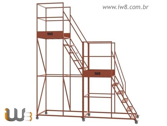 Escada Plataforma  para Almoxarifado