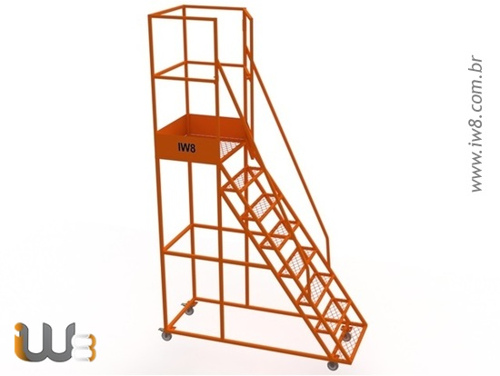 Foto do produto - Escada Plataforma Almoxarifado 1,9m