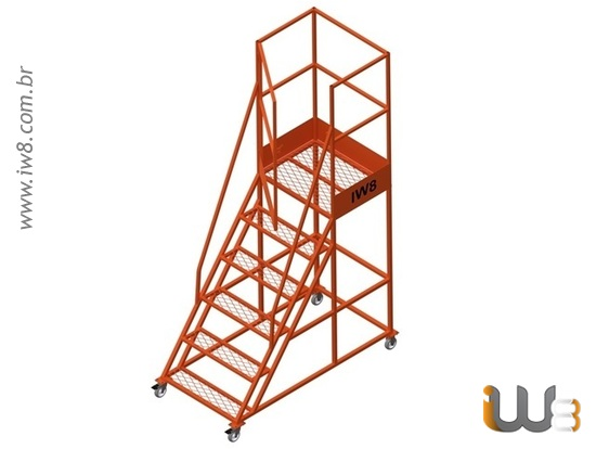 Escadas Industriais Plataforma