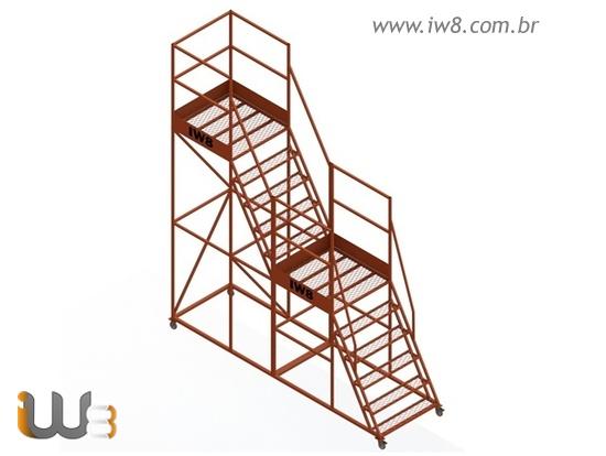 Escadas Plataformas Industriais com Roda