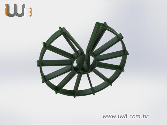 Espaçador Circular Raiado 50mm