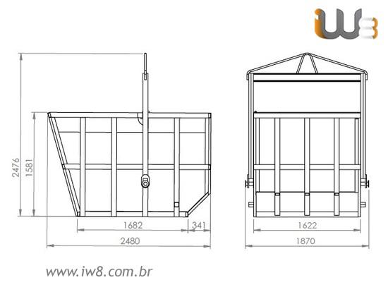 Fabricação Caçamba de Entulho 5m³