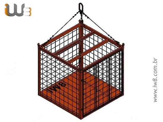 Foto do produto - Gaiola com Porta 1.5m x 1.5m x 1.5m Cap. 2500kg