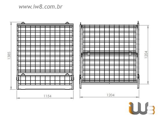 Gaiola de Aramado Industrial para Armazenagem e Logística