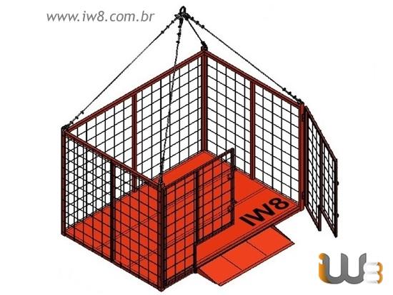 Foto do produto - Gaiola de Ferro 2.30m x 1.6m x 1.5m Cap. 300kg