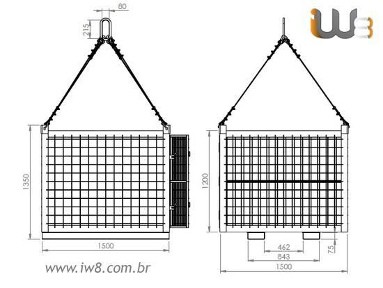 Gaiola Industrial Aramada