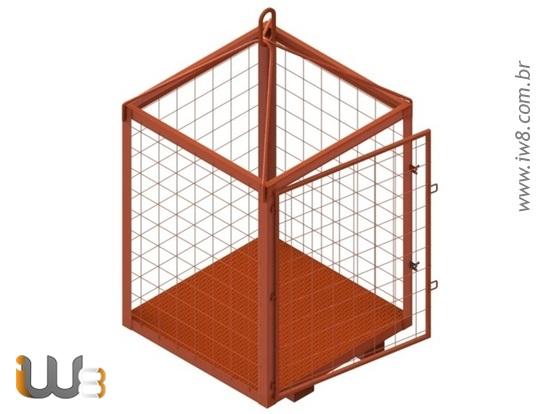 Foto do produto - Gaiola Sob Medida 1.2m x 1.2m 1.6m Cap. 2000kg