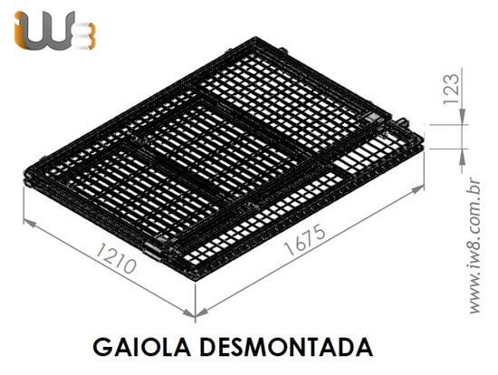 Gaiola Metálica Desmontável