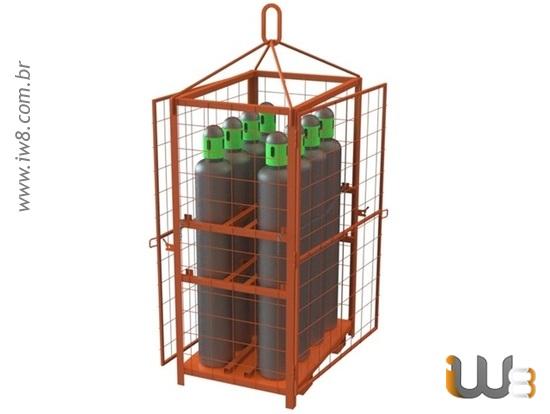 Foto do produto - Gaiola 8 Cilindros Porta nos Dois Lados