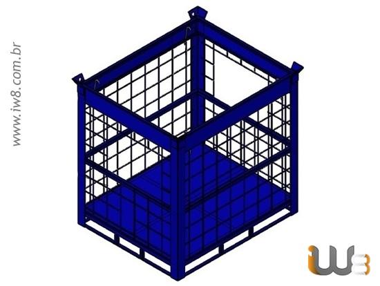 Foto do produto - Gaiola para Container Ibc