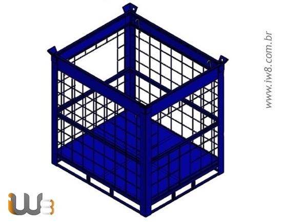 Gaiola para Empilhamento e Armazenamento de Container Ibc