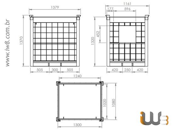 Gaiola Tipo Rack para Empilhamento Container Ibc 1000 Litros