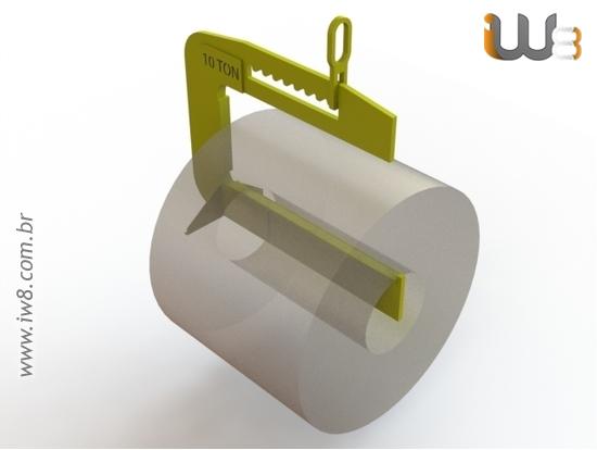 Gancho C Estrutural para Bobinas de Aço até 10ton