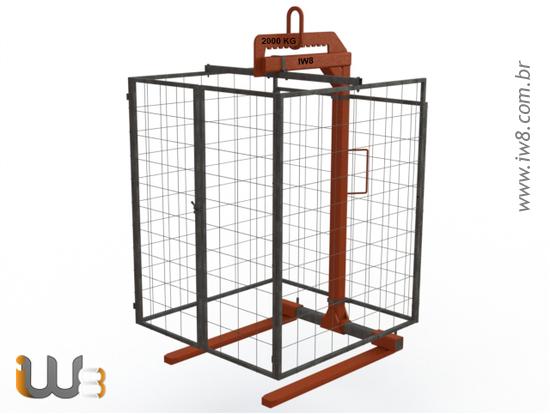 Foto do produto - Garfo Paleteiro 2ton com Gaiola 1,8m