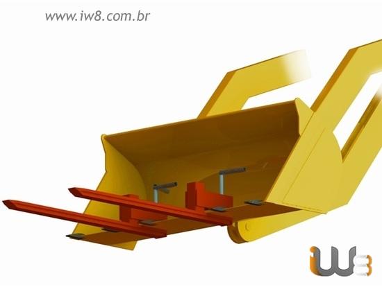 Foto do produto - Garfo para Pá Carregadeira 3000kg