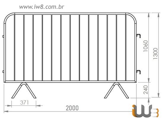Grade de Contenção Gradil Barricada Eventos Públicos