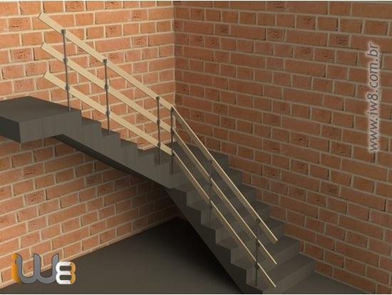 Foto do produto - Guarda Corpo para Escadas de Obras