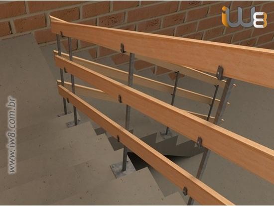 Foto do produto - Guarda Corpo para Escada Provisório