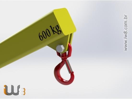 Lança Guindaste para garfo de Empilhadeira