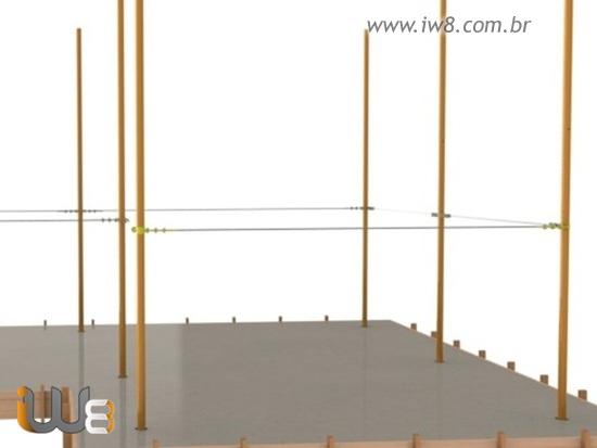 Linha de Vida Horizontal Cabo de Aço