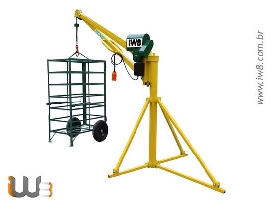 Mini Grua 350kg para Construção Civil