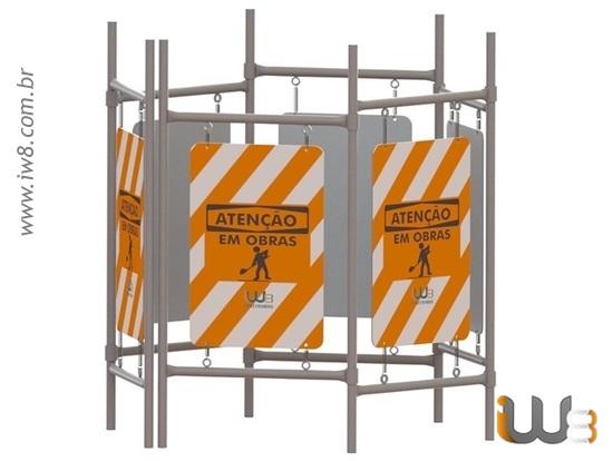 Pedestal com Placa Móvel para Isolamento de Área