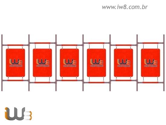 Pedestal Modular com Placa de Identificação