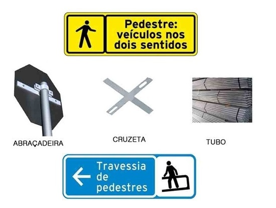Placas de Transito Sinalização Advertência Indicação