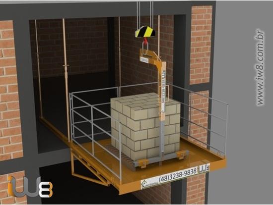 Foto do produto - Plataforma de Descarga 2,3m x 2,3m - 2.000kg