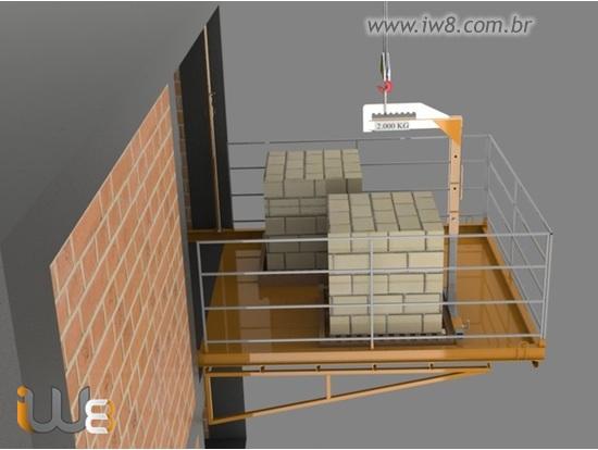 Plataforma Carga Descarga Obra 3m x 3m Cap 2.000kg