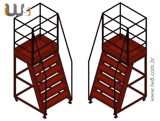 Plataforma com Escada para Obras