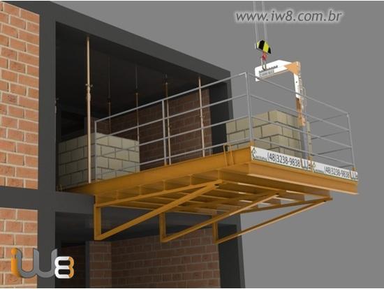Plataforma de Descarga com Grua 3m x 3m Cap 5.000kg