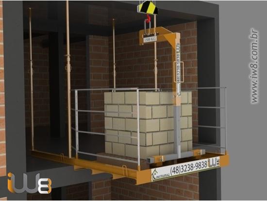 Plataforma Descarga Andar Obra 1,5m x 2m Cap 1.500kg