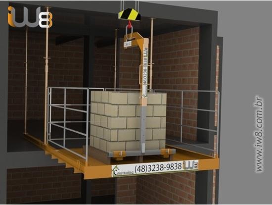 Plataforma Descarga Carga Andar 2,3m x 2,3m Cap 1.500kg